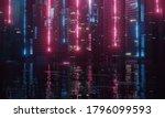 3d Rendering Of Abstract Neon...