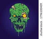 Skull Zombie Isolated...