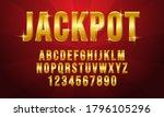 editable golden jackpot text... | Shutterstock .eps vector #1796105296