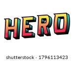 hero lettering design ...   Shutterstock .eps vector #1796113423