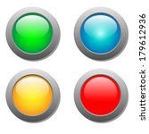 round color buttons | Shutterstock .eps vector #179612936