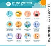 summer safety tips for seniors  ... | Shutterstock .eps vector #1796164459