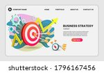 business strategy concept with... | Shutterstock .eps vector #1796167456