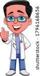 doctor mascot vector art and... | Shutterstock .eps vector #1796168656
