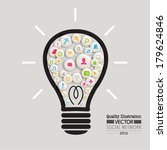 creative social network... | Shutterstock .eps vector #179624846