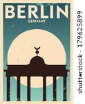 Typographic Berlin City Poster...