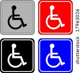 disabled sign | Shutterstock .eps vector #17963026