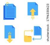 folder   document icons set  ...   Shutterstock .eps vector #1796330623