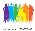 silhouettes of people  men ... | Shutterstock .eps vector #1796372683