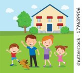 happy family. family and home.... | Shutterstock .eps vector #179639906