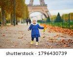 Adorable Toddler Girl In Blue...