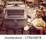 old flea market in brussels.... | Shutterstock . vector #179643878