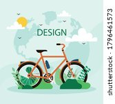 walking and cycling are... | Shutterstock .eps vector #1796461573