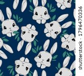 seamless pattern rabbit. hand...   Shutterstock .eps vector #1796470336