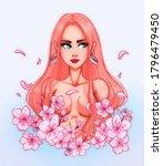 sakura flower in the guise of... | Shutterstock . vector #1796479450