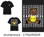 character street wear t shirt.... | Shutterstock .eps vector #1796490049