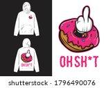 character street wear hoodie.... | Shutterstock .eps vector #1796490076