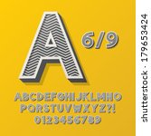 retro stripe style 6 9 alphabet ... | Shutterstock .eps vector #179653424