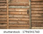 Part Of A Solid Wooden Fence...