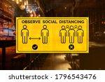 social distancing sign of a bar ...   Shutterstock . vector #1796543476