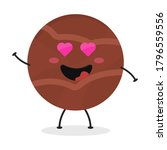 cute flat cartoon chocolate... | Shutterstock .eps vector #1796559556