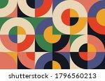bauhaus composition artwork... | Shutterstock .eps vector #1796560213