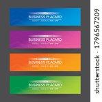 business placard background...   Shutterstock .eps vector #1796567209