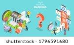 3d isometric flat vector... | Shutterstock .eps vector #1796591680