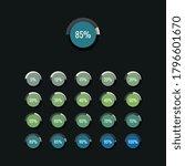 modern infographic piechart...