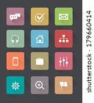 vector flat icons set   Shutterstock .eps vector #179660414