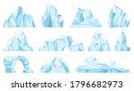 cartoon iceberg. drifting... | Shutterstock .eps vector #1796682973