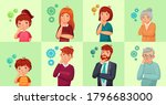 people solving problem or... | Shutterstock .eps vector #1796683000