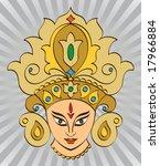 calligraphic durga indian... | Shutterstock .eps vector #17966884