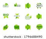 eco label hand drawn linear...