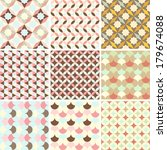 Set Of Abstract Retro Geometri...