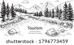 vector illustration of a forest ... | Shutterstock .eps vector #1796773459