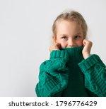 Cute Little Girl Hides Her Face ...