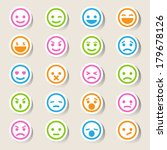 smiley faces icons set...   Shutterstock .eps vector #179678126