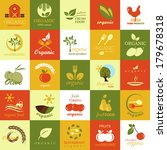 organic icons set   isolated on ... | Shutterstock .eps vector #179678318