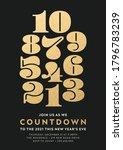 2021 new year celebration gold... | Shutterstock .eps vector #1796783239