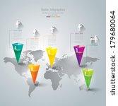 abstract 3d digital... | Shutterstock .eps vector #179680064