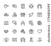 simple set romance vector... | Shutterstock .eps vector #1796806399