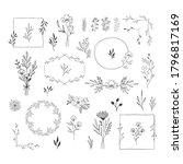 set of nature design elements.... | Shutterstock .eps vector #1796817169