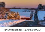 Winter View Of A Country Road...