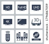 tv related vector icon set in... | Shutterstock .eps vector #1796867059
