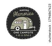 vintage camping rv logo ... | Shutterstock .eps vector #1796867623