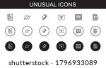 unusual icons set. collection... | Shutterstock .eps vector #1796933089