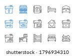 hostel icons set. collection of ... | Shutterstock .eps vector #1796934310