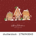 Greeting Christmas Card With...