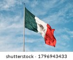 Close up of a mexican flag...